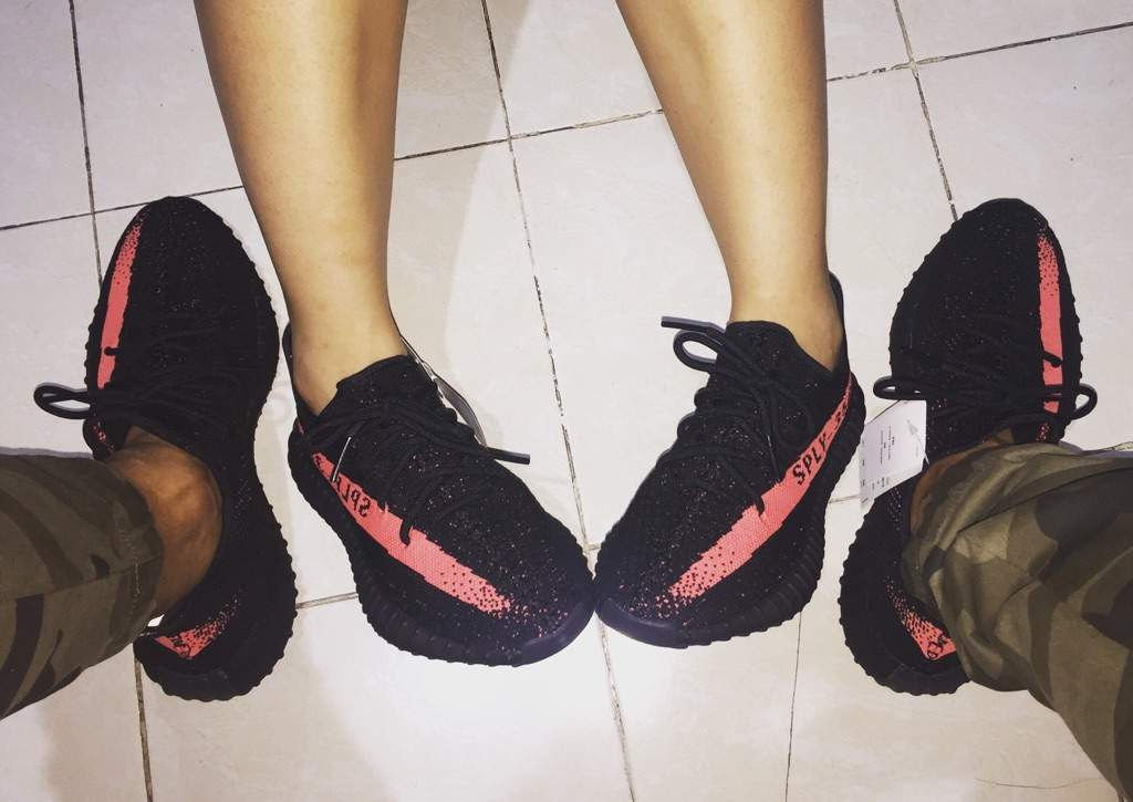 new styles 2962c 5b681 Black Friday, with a red stripe! Yeezy 350 v2 for me and my ...
