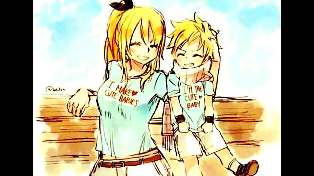 Natsu and Lucy Family | Fairy Tail Amino