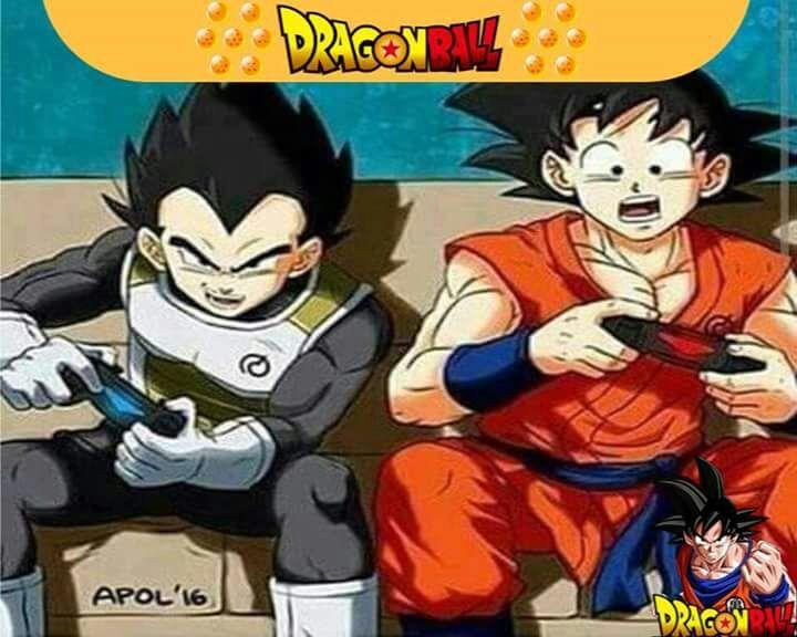 Yo Estoy Jugando Play 4 Con Vegeta Dragon Ball Espanol Amino