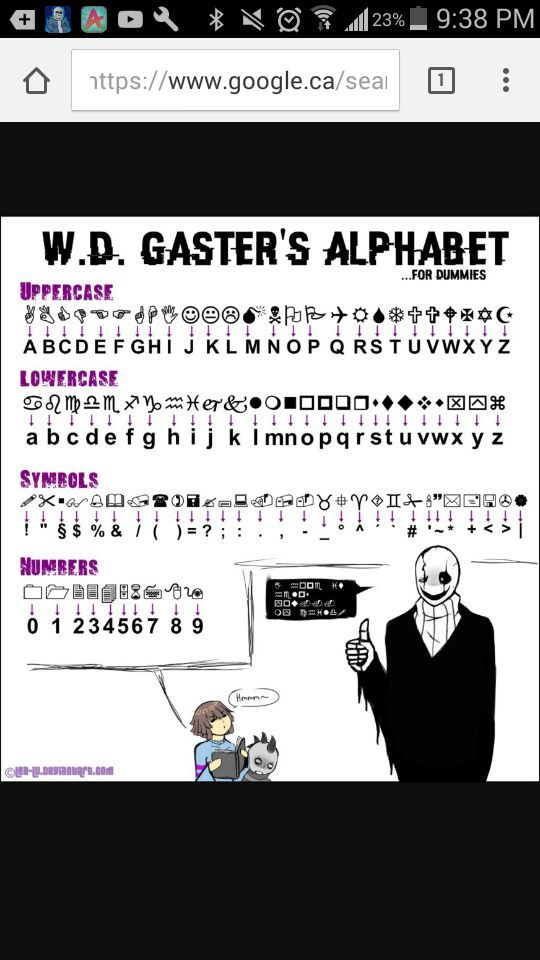 Wd Gasters Alphabet For Dummies Undertale Amino