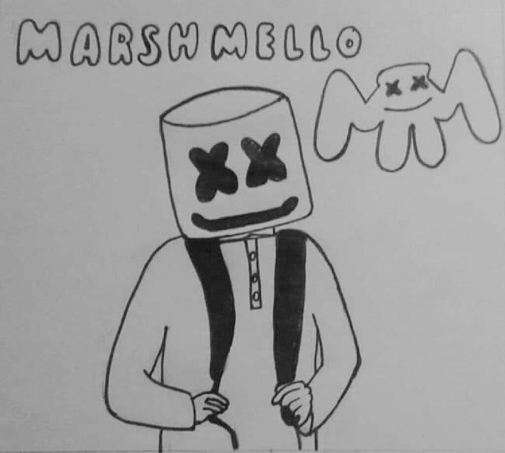 Dibujo De Marshmello Dibujarte Amino