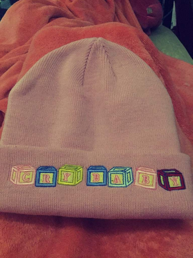 I brought the CRYBABY beanie! It s extremely warms n very comfortable! If  you re wondering where to get it 54ae1db16e8