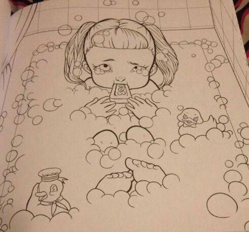 Cuaderno Para Colorear De Cry Baby🍼 Crybabies Amino