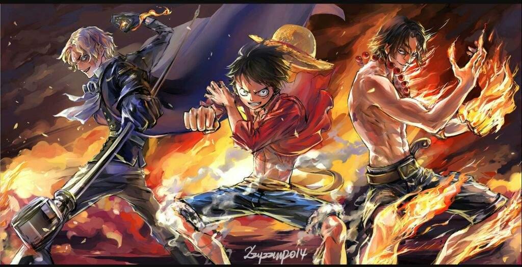 Luffy sAbO Ace