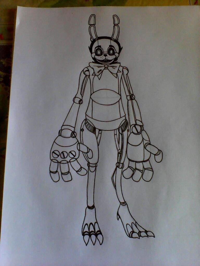 Como Dibujar A Drawkill Toy Bonnie Fnaf Amino Español Amino