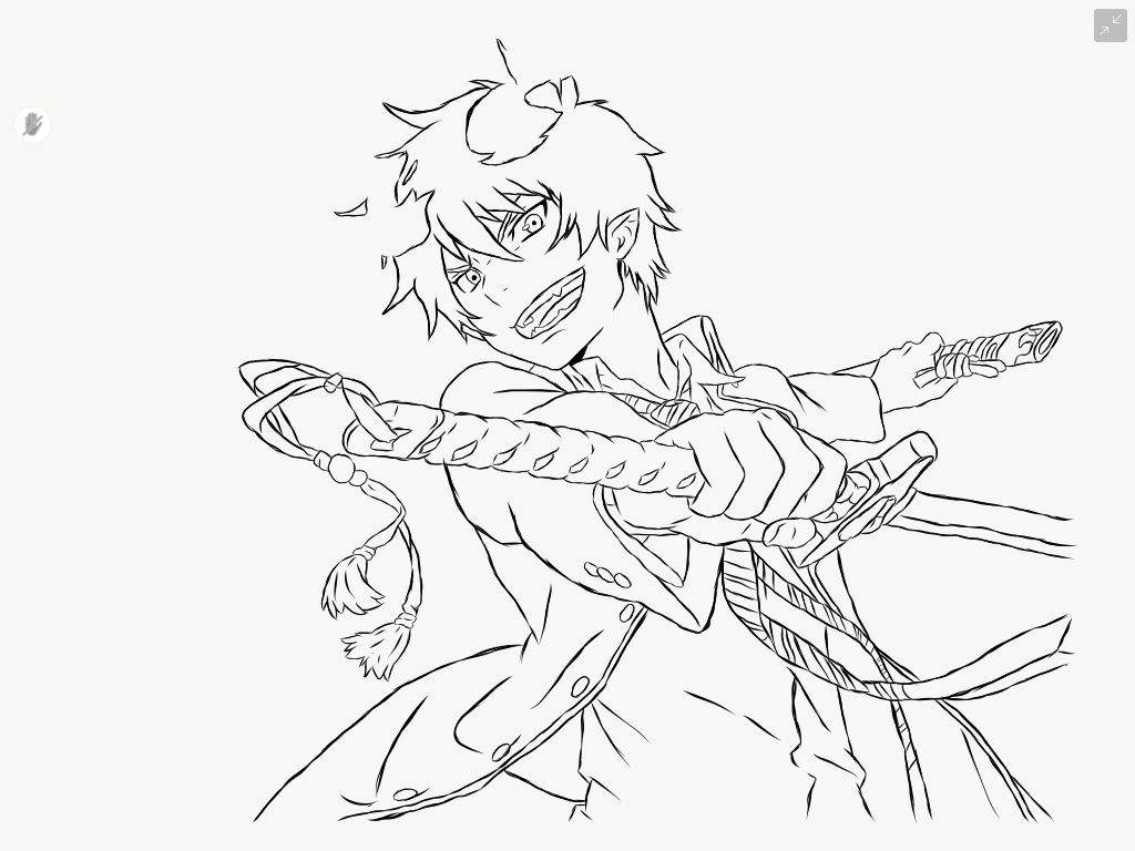blue exorcist coloring pages coloring page Blue Exorcist Chibi Coloring Pages Sword Art Online Coloring Pages