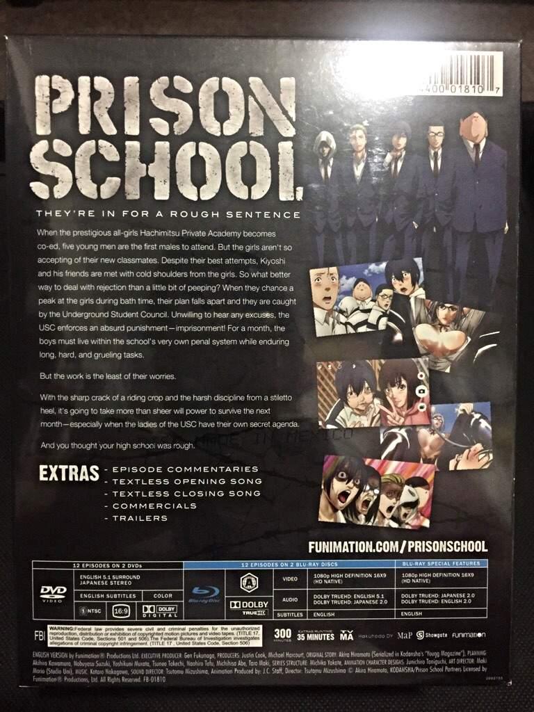 Prison School Limited Edition Blu-ray/DVD   Anime Amino