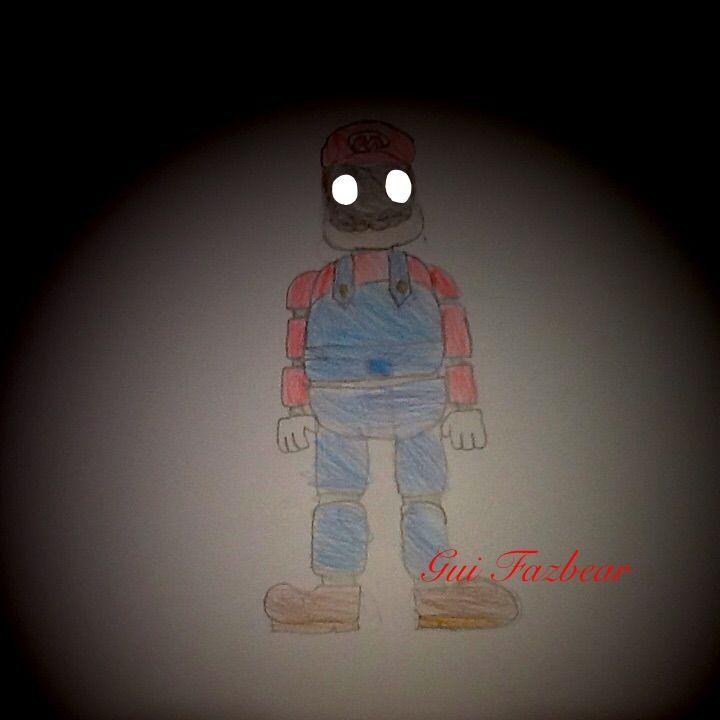 Desenho Super Mario Bros Animatronic Five Nights At Freddys Pt