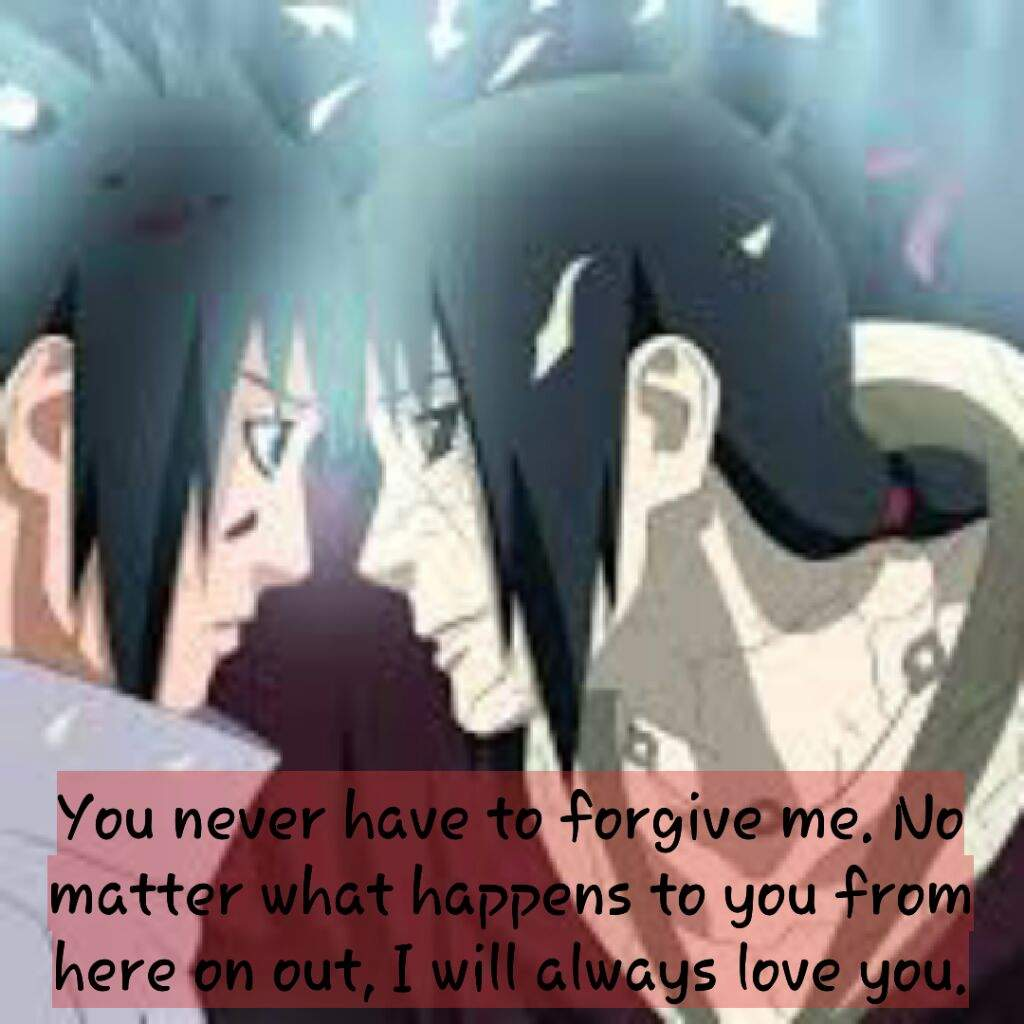 Last quote from Itachi 😢 | Naruto Amino