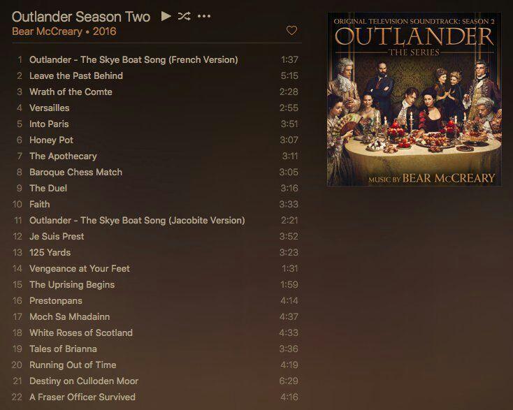 Outlander Soundtrack Season 2 Outlander Amino