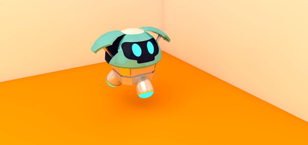 Mei's robot (snowball) 3D model GIF | Overwatch Amino