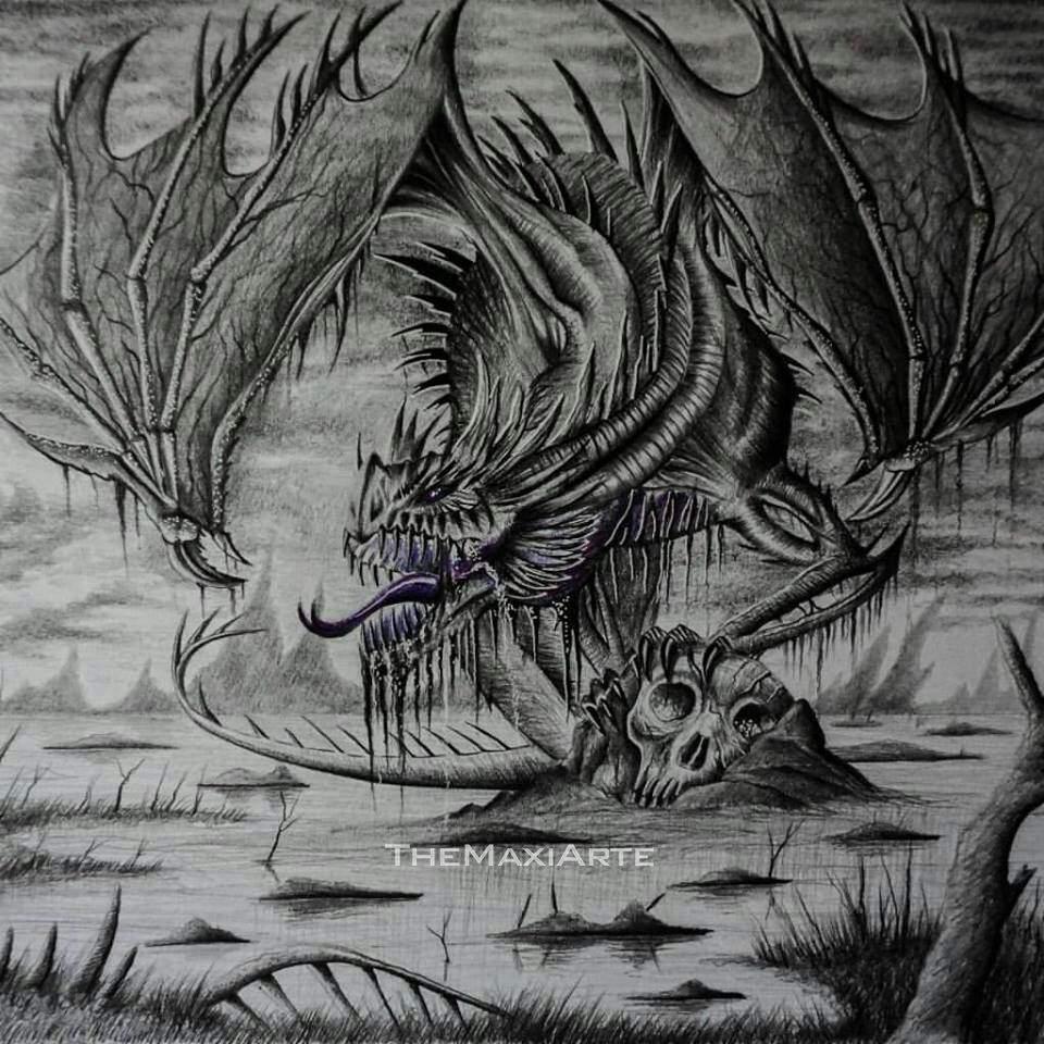 Dragón Realista A Lápiz Arte Amino Amino
