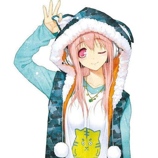 Anime Girl In Hoodie: Image: Anime Girl With Headphones And Hoodie Wallpaper