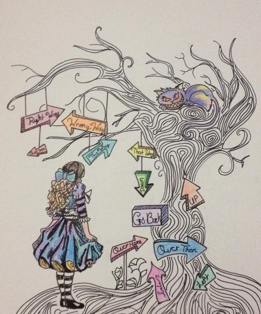 foto de Dibujo de Alicia en el pais de las maravillas 🍭🍭🍭 •Anime
