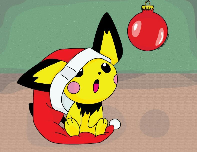 Christmas Pikachu.What Should I Draw Christmas Pikachu Christmas Pichu Or Me