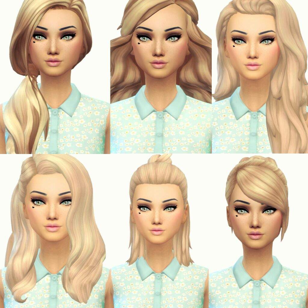 Current Favourite Maxis Match hair 3   Sims Amino