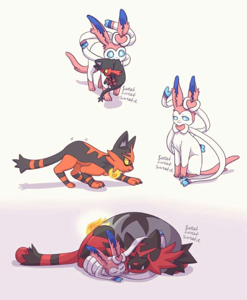 Incineroar And Sylveon Pok 233 Mon Amino