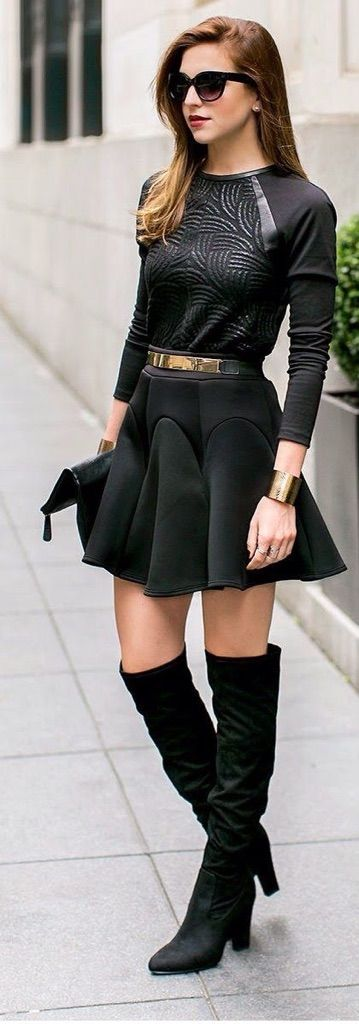 b46a0fdbf Outfits con faldas negras 😁 | Maquillaje Y Moda Amino