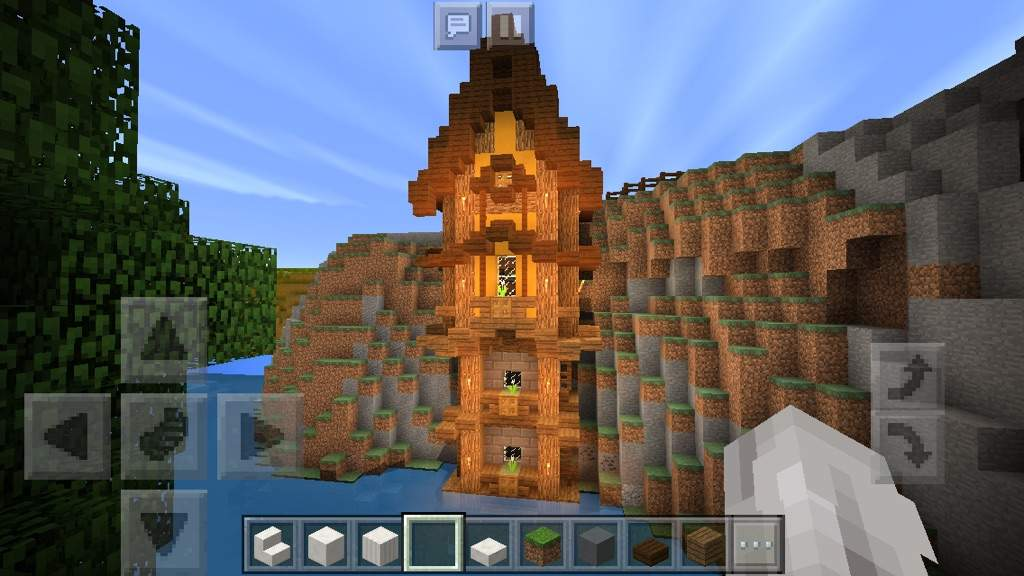 Colorful Cliff House Minecraft Amino