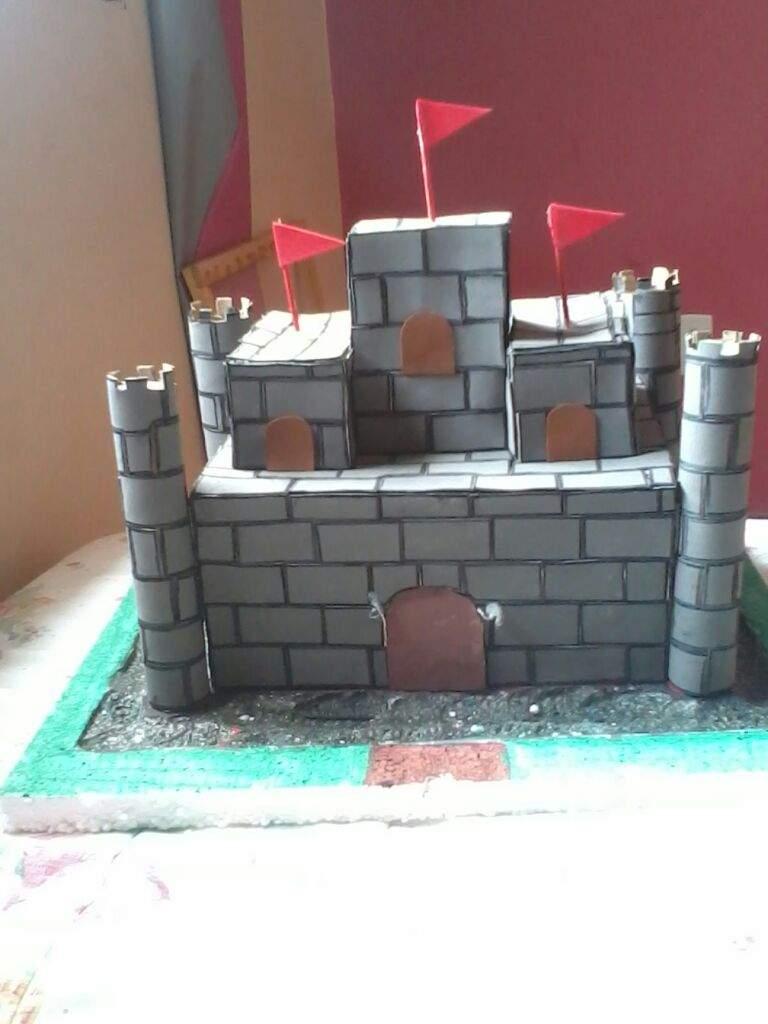 Castelo Medieval Maquete Escolar Diy Português Amino
