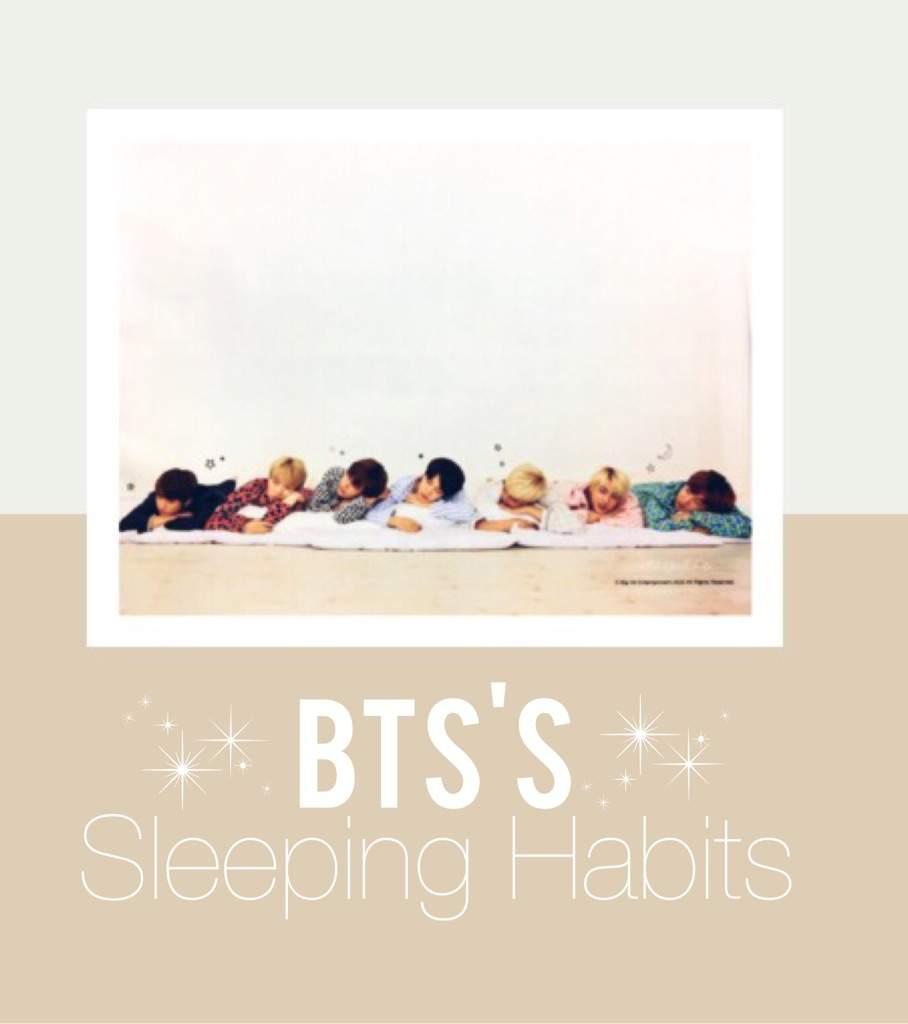 💤BTS's Sleeping Habits💤 | K-Pop Amino