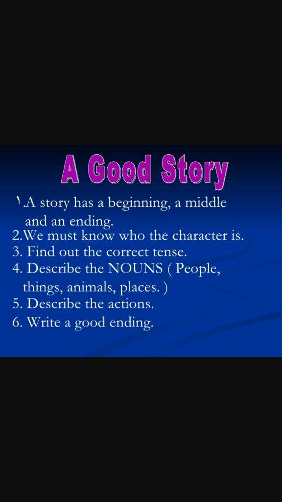 how to write a perfect story