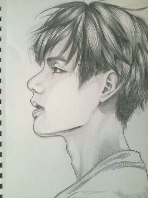 These side profile drawings are really fun so im probably gonna draw more of them have a nice day night