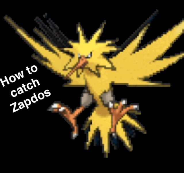 how to catch zapdos in pokemon yellow