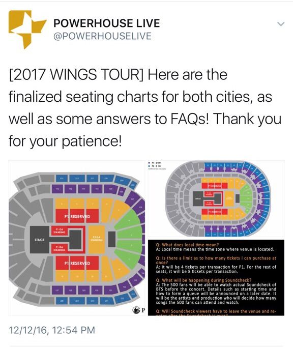 Wings Us Tour Seating Chart Info Armys Amino