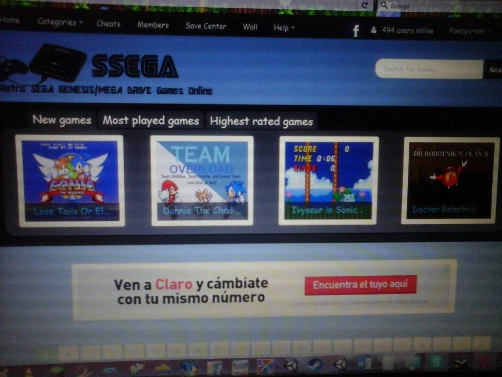 Juegos Clasicos Del Sega Genesis Desde El Computador Sonic The