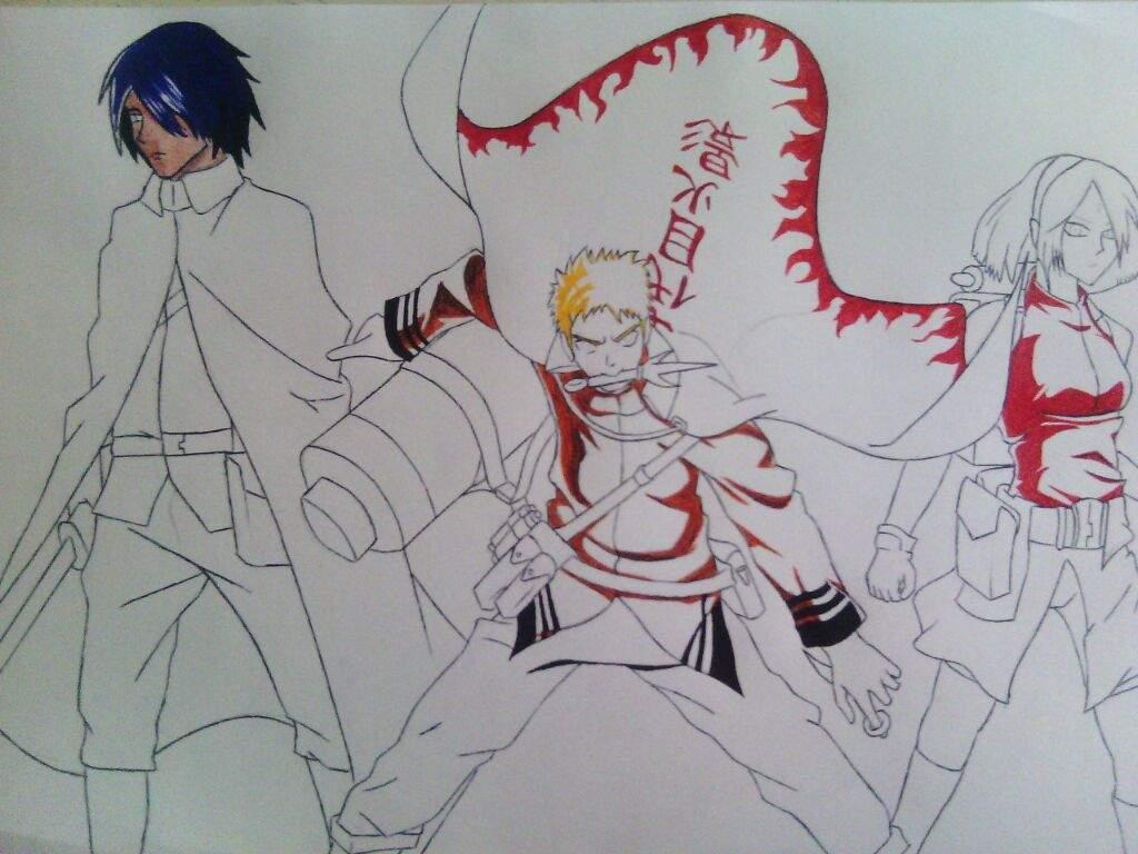 Dibujo de Naruto Sasuke y Sakura  Anime Amino