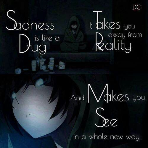 Saying Quotes About Sadness: Anime Depressed Quotes