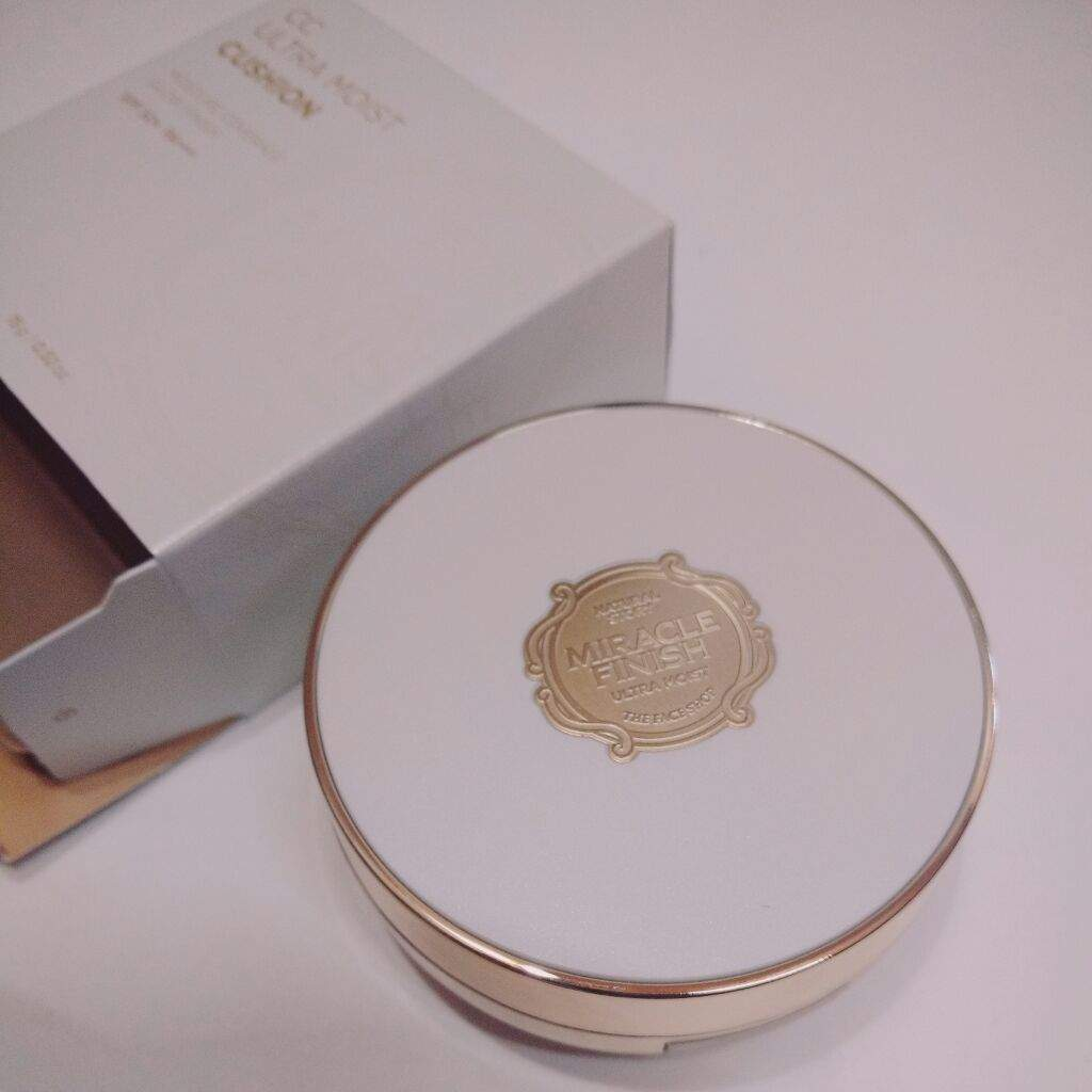 The Face Shop Miracle Finish Ultra Moist CC cushion review ...