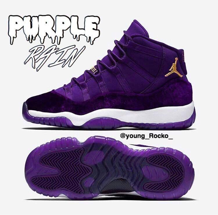 new style 43d35 d67d1 Jordan 11 Purple rain