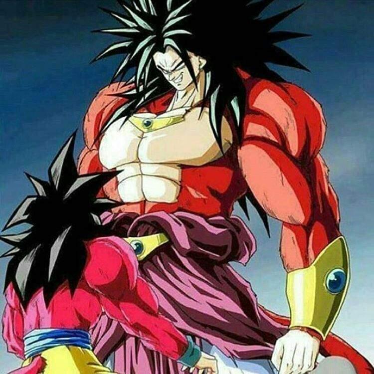 Broly SSJ4 VS Goku SSJ4😱 | •Anime• Amino