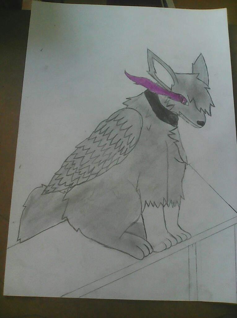 Dibujo3 Lobo Con Alas Aprendiendo A Dibujar Amino