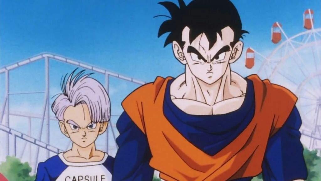 Gohan e Trunks do futuro Dragon Ball
