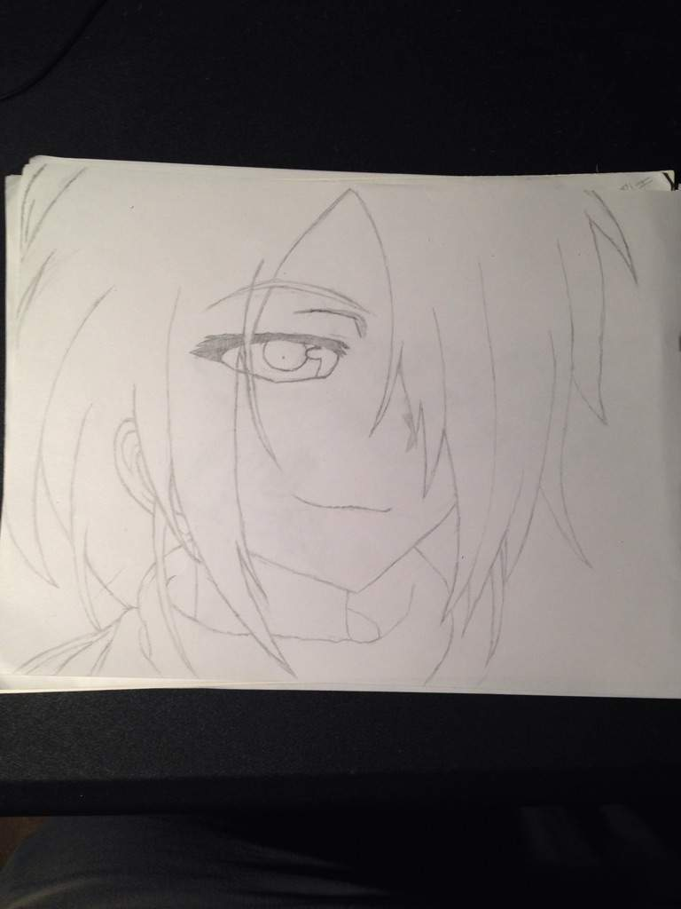 I love this anime here is my drawn outline