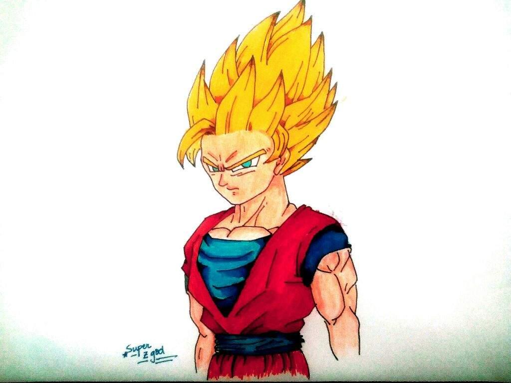 Drawing Super Saiyan 2 Goku Dragonballz Amino