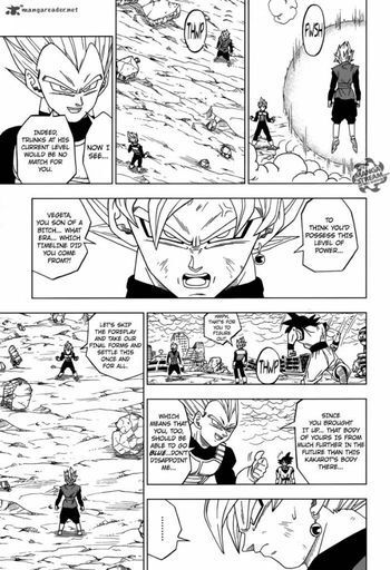 Manga Black Got His Ass Whooped While Fighting A Ssj2 Vegeta That Wasnt Taking The Battle Seriously Plus Stated Would Have Killed