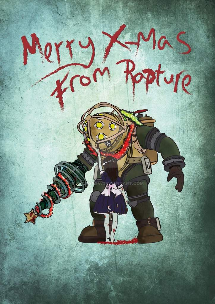 Christmas For Rapture Sander Is Santa Au Idea Bioshock Official