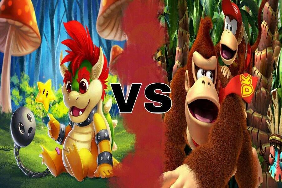 Donkey kong vs bowser