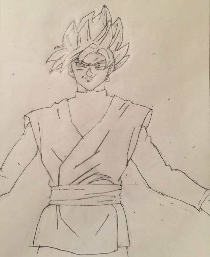 goku black rose drawing - drawing art ideas