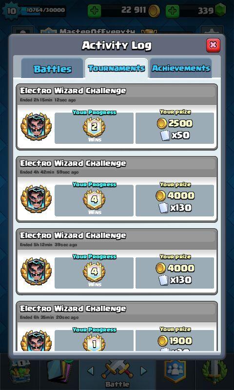 electro wizard challenge clash royale amino