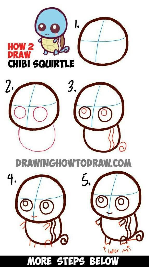 how to draw kawaii pokemon