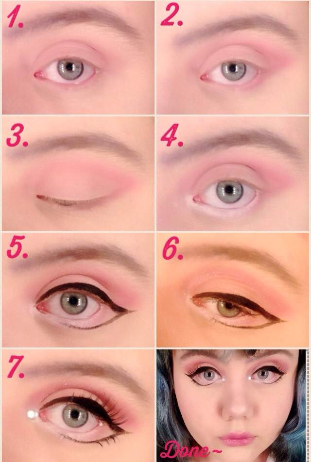 Pink Doll Eye Makeup Tutorial Kawaii Amino Amino