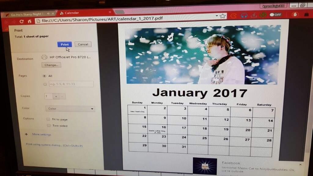 Bts 2017 Calendar Diy Army S Amino