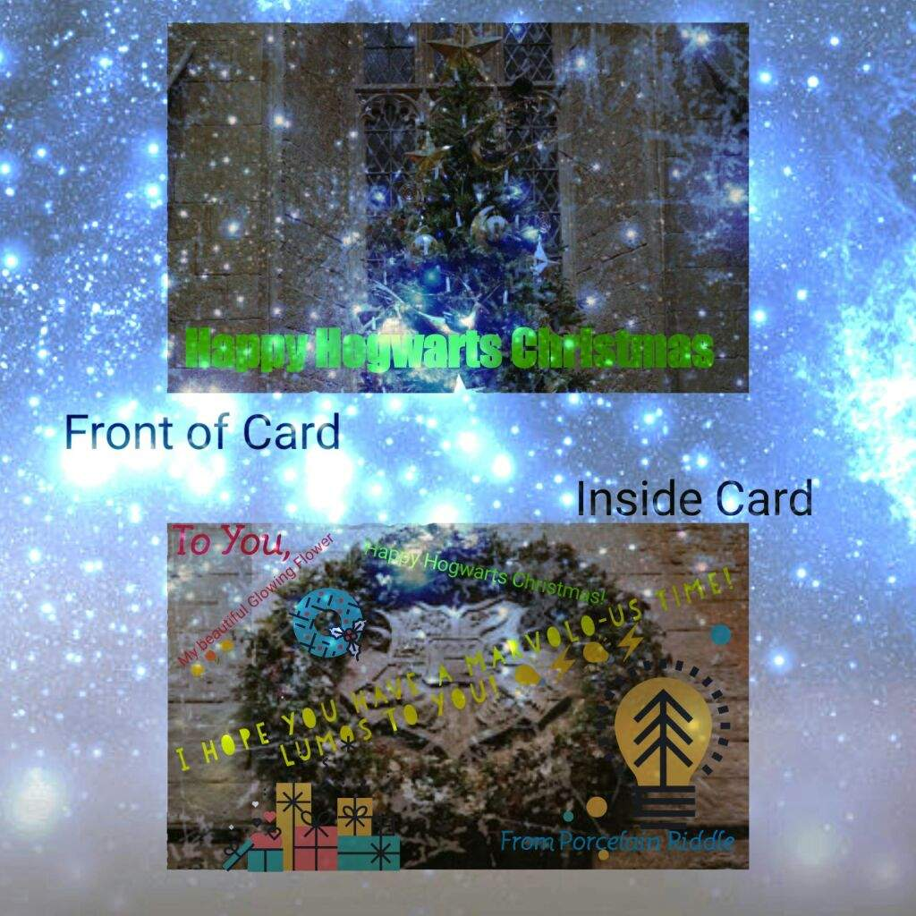 christmas cards harry potter amino