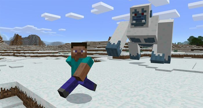 GIANT YETI IN MCPE!!!!! | Minecraft Amino