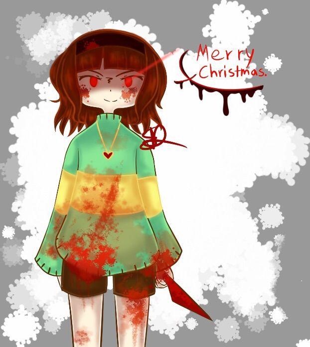 Christmas Chara Speedpaint Undertale Amino